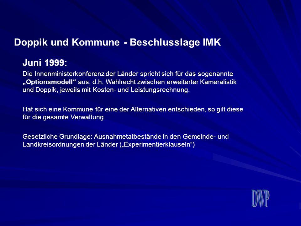 Doppik und Kommune - Beschlusslage IMK