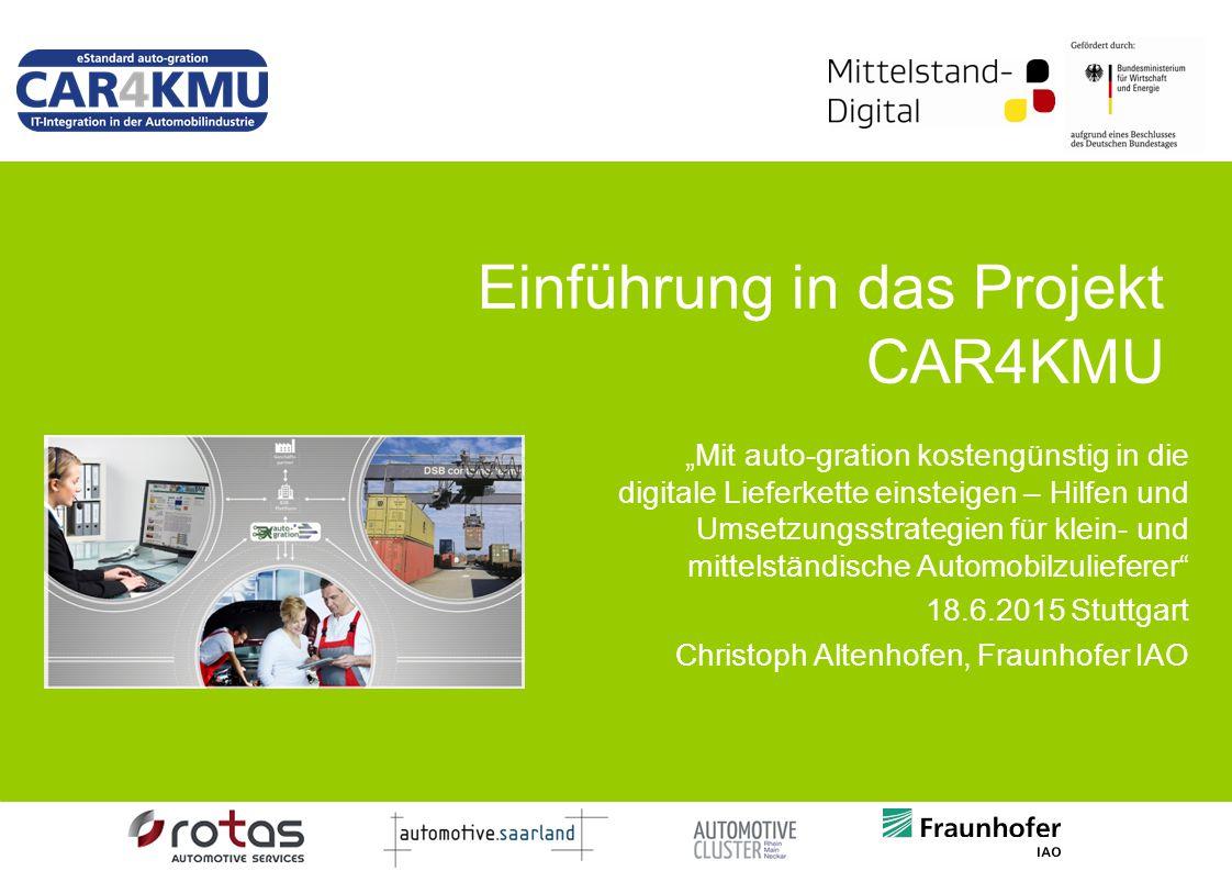 Einführung in das Projekt CAR4KMU