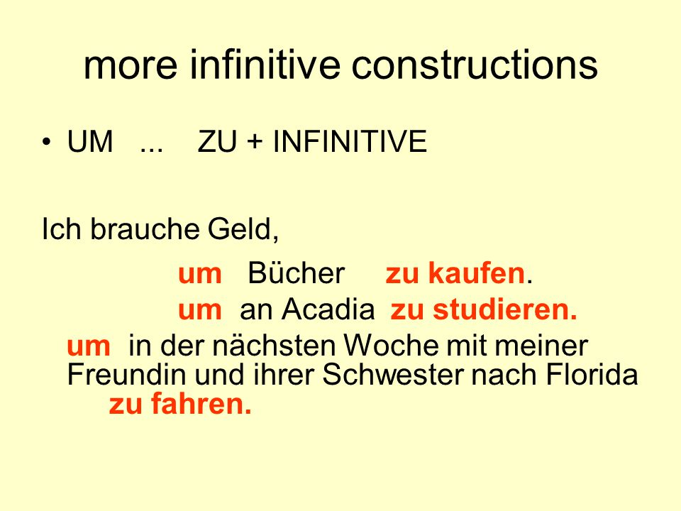 more infinitive constructions