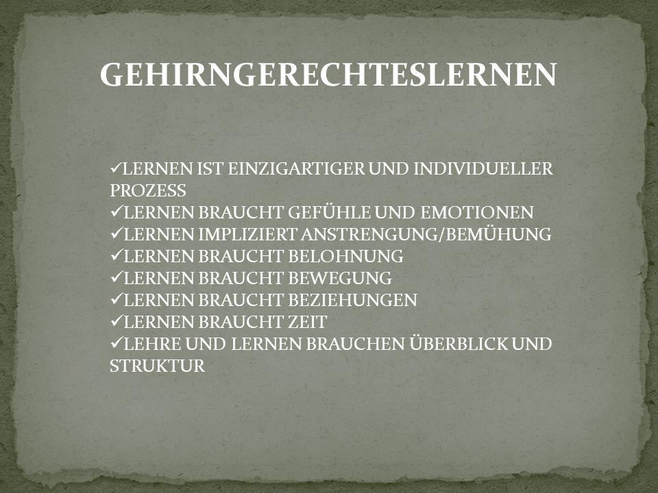 GEHIRNGERECHTESLERNEN