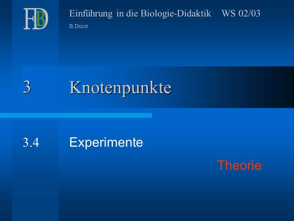 3 Knotenpunkte 3.4 Experimente Theorie
