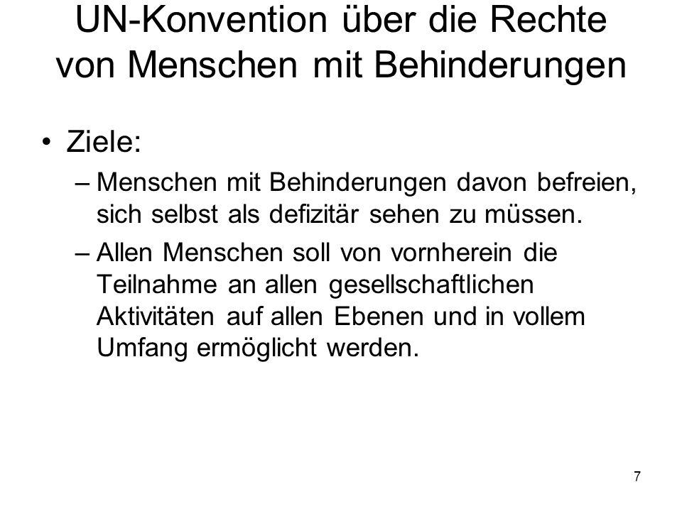 UN-Konvention über die Rechte von Menschen mit Behinderungen
