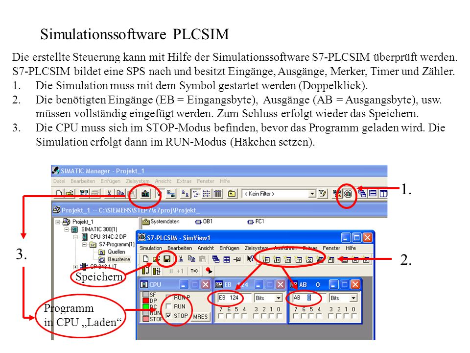 Simulationssoftware PLCSIM