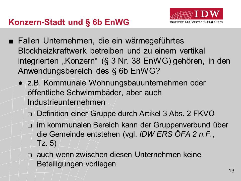 Konzern-Stadt und § 6b EnWG
