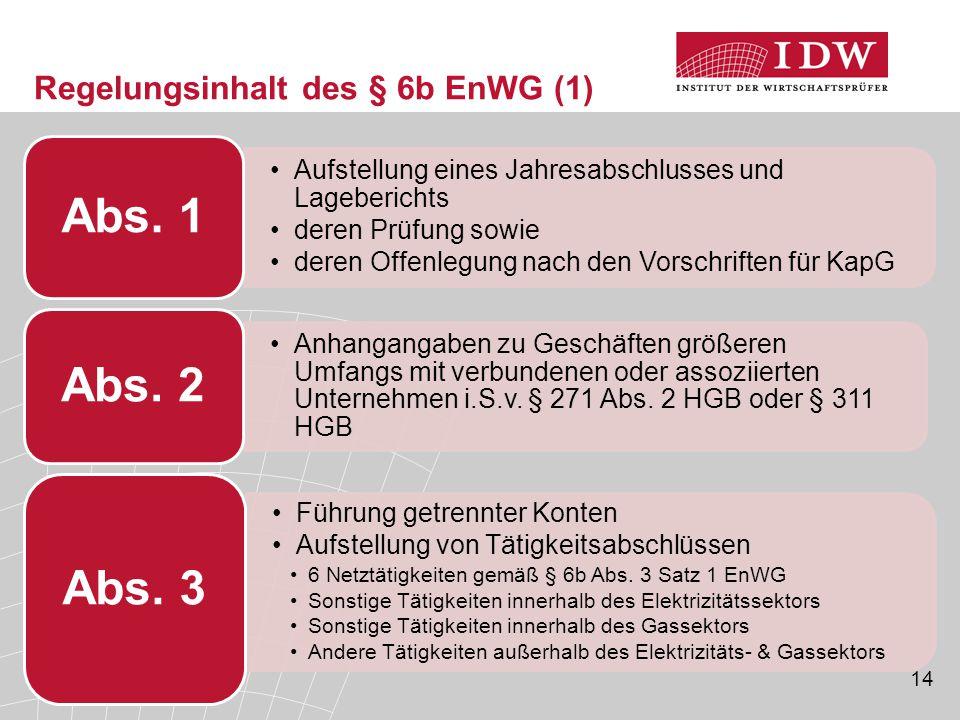 Regelungsinhalt des § 6b EnWG (1)