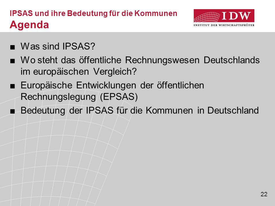 IPSAS und ihre Bedeutung für die Kommunen Agenda