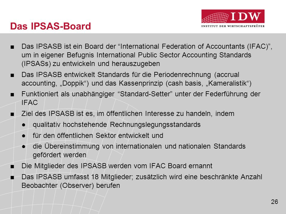 Das IPSAS-Board