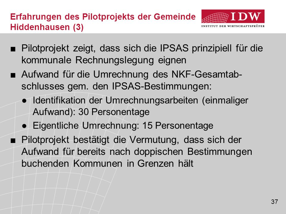 Erfahrungen des Pilotprojekts der Gemeinde Hiddenhausen (3)