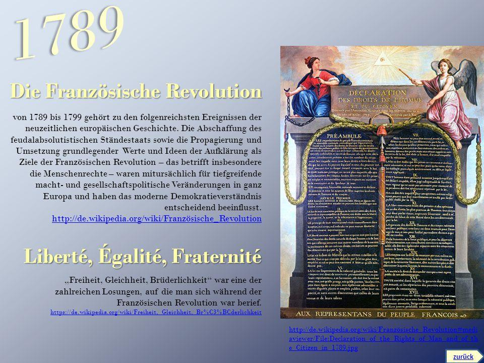 1789 Die Französische Revolution Liberté, Égalité, Fraternité