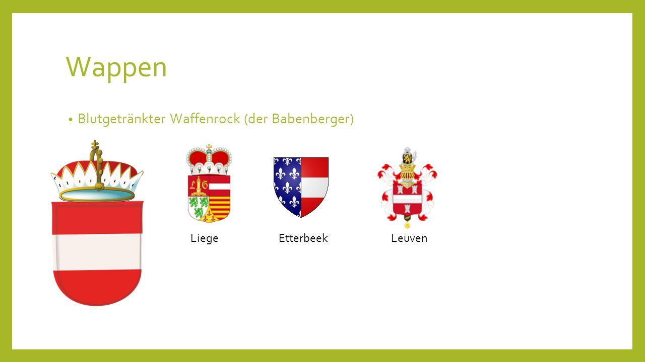 Wappen Blutgetränkter Waffenrock (der Babenberger) Liege Etterbeek