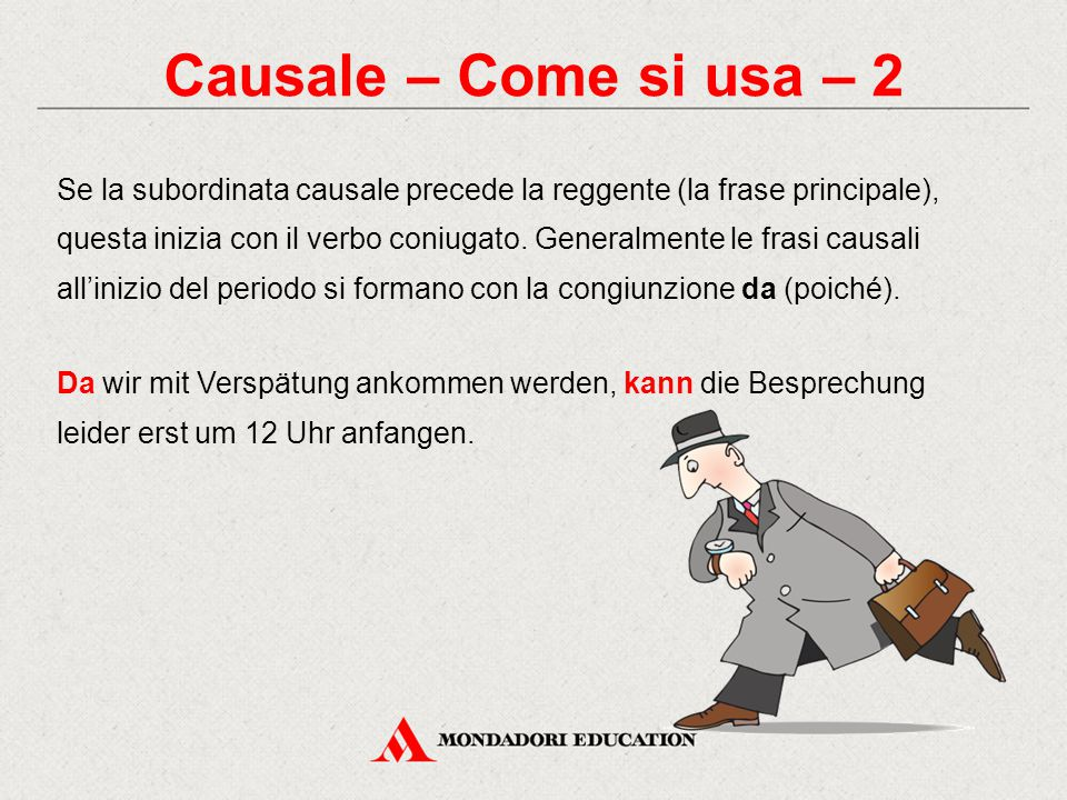 Causale – Come si usa – 2