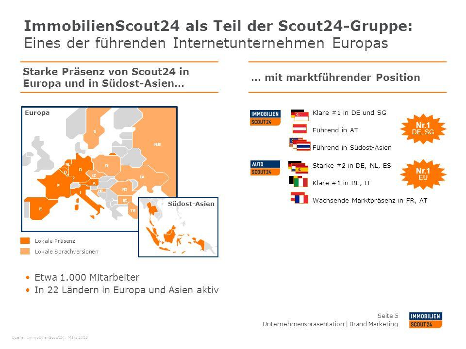 ImmobilienScout24 als Teil der Scout24-Gruppe: Eines der führenden Internetunternehmen Europas
