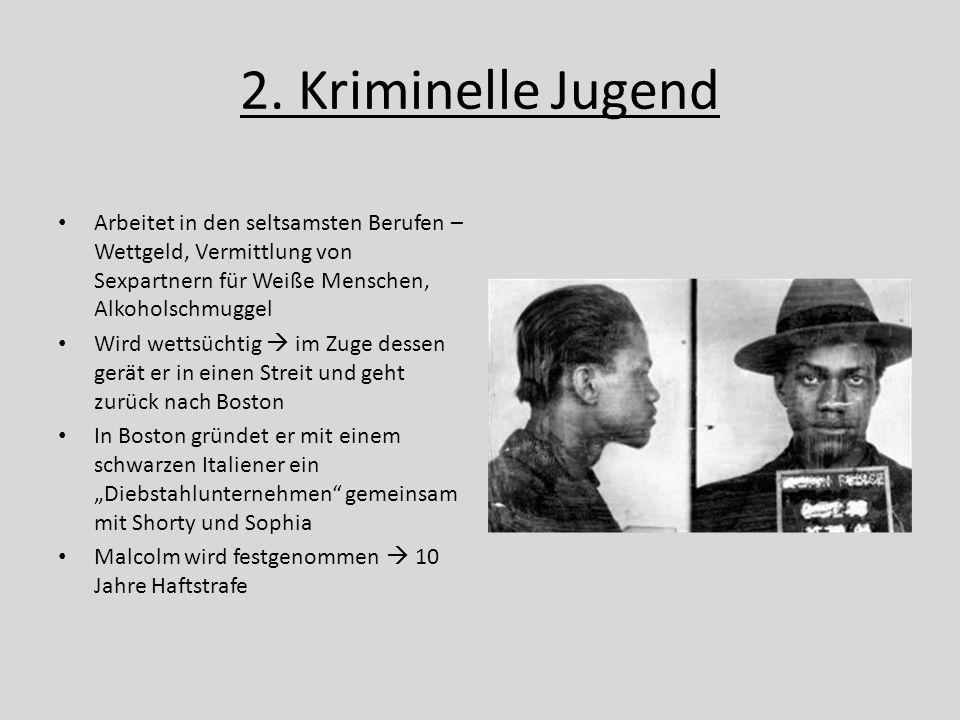 2. Kriminelle Jugend Arbeitet in den seltsamsten Berufen – Wettgeld, Vermittlung von Sexpartnern für Weiße Menschen, Alkoholschmuggel.