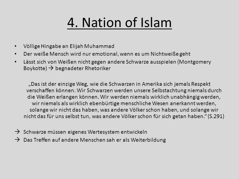 4. Nation of Islam Völlige Hingabe an Elijah Muhammad