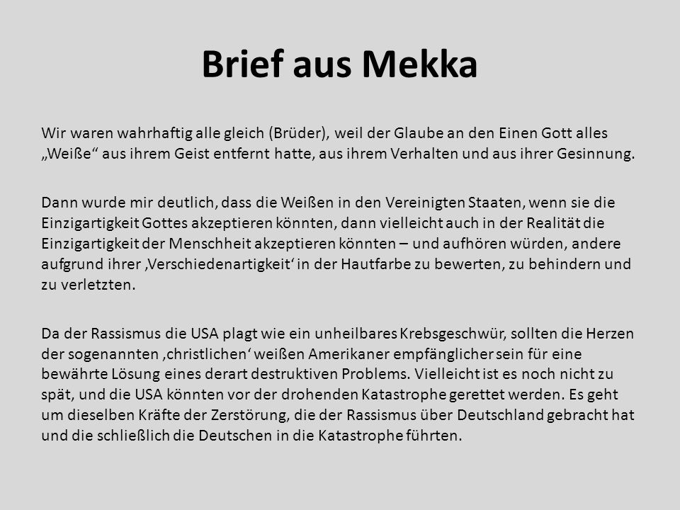 Brief aus Mekka