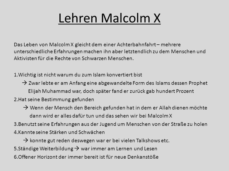 Lehren Malcolm X