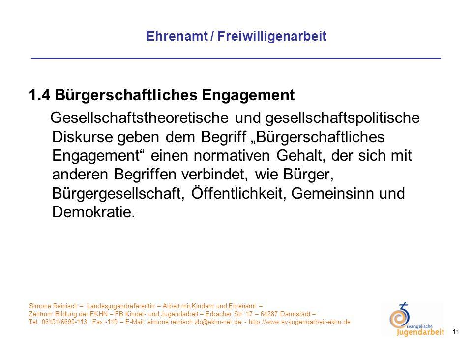 1.4 Bürgerschaftliches Engagement