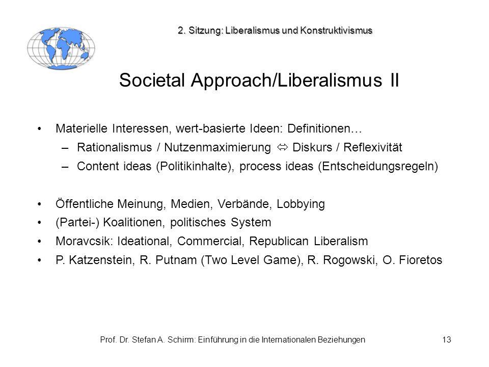 Societal Approach/Liberalismus II