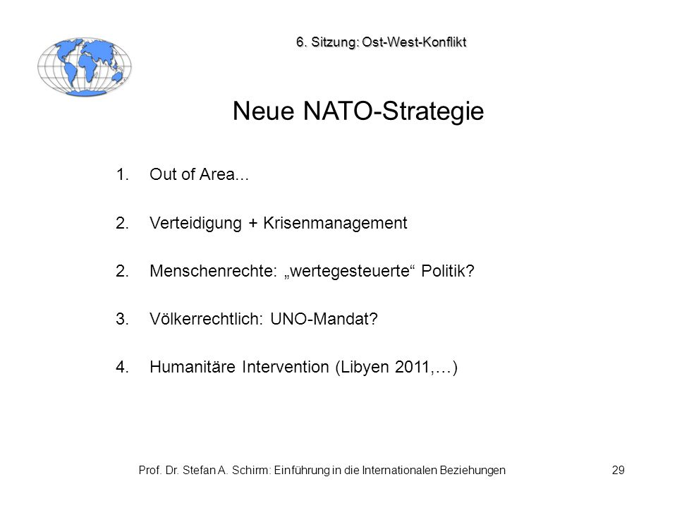 6. Sitzung: Ost-West-Konflikt