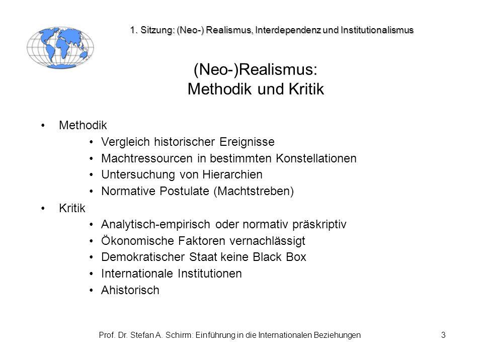 (Neo-)Realismus: Methodik und Kritik