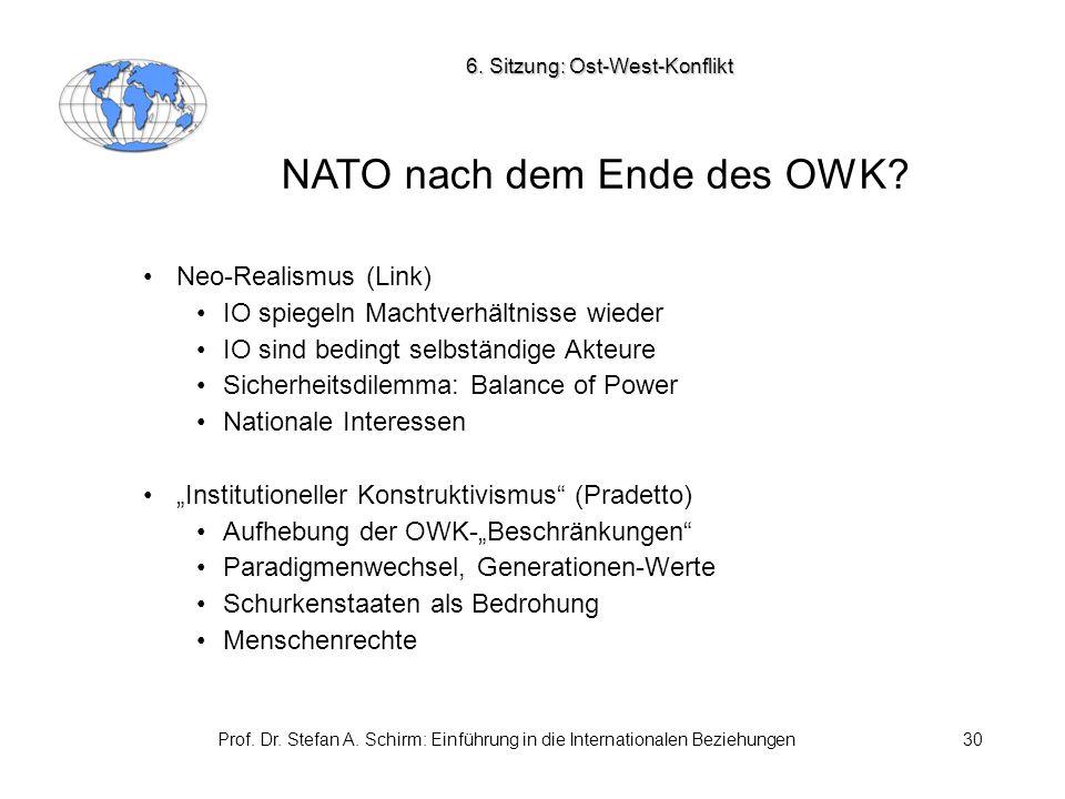 NATO nach dem Ende des OWK