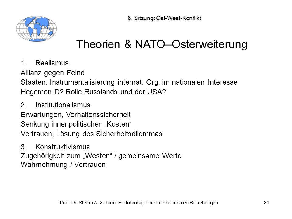 Theorien & NATO–Osterweiterung