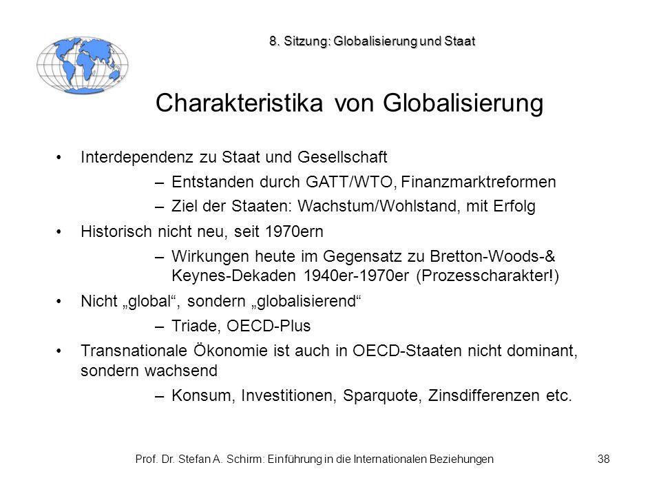 Charakteristika von Globalisierung