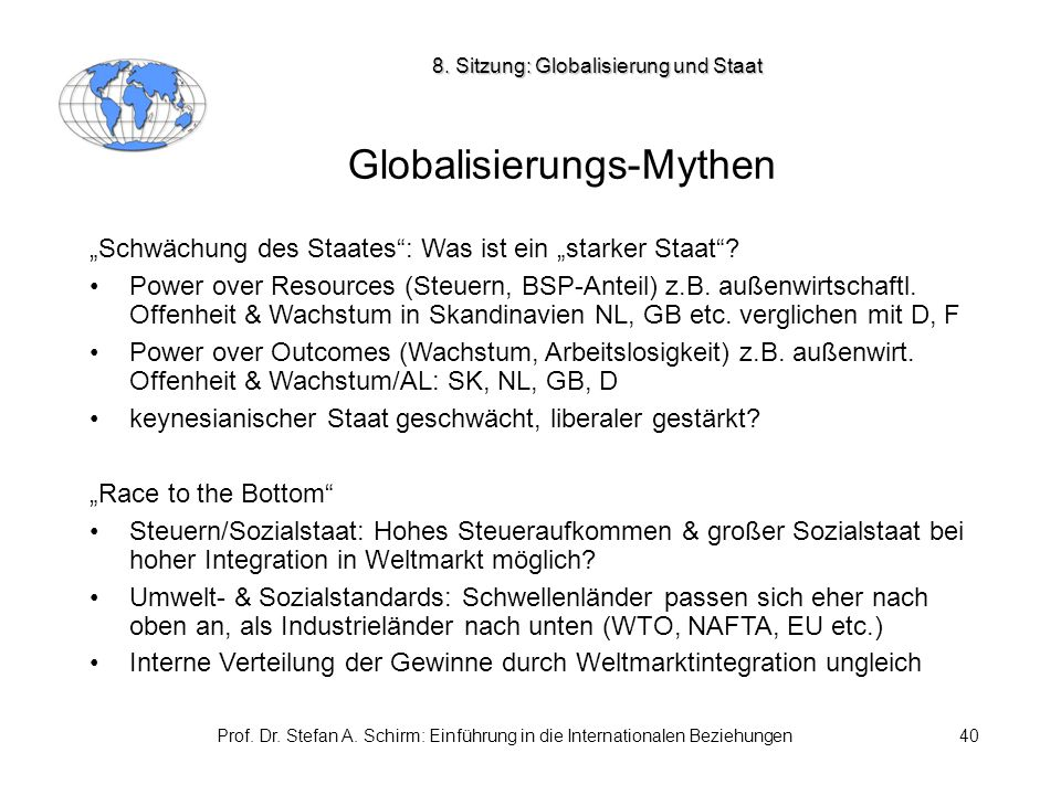 Globalisierungs-Mythen