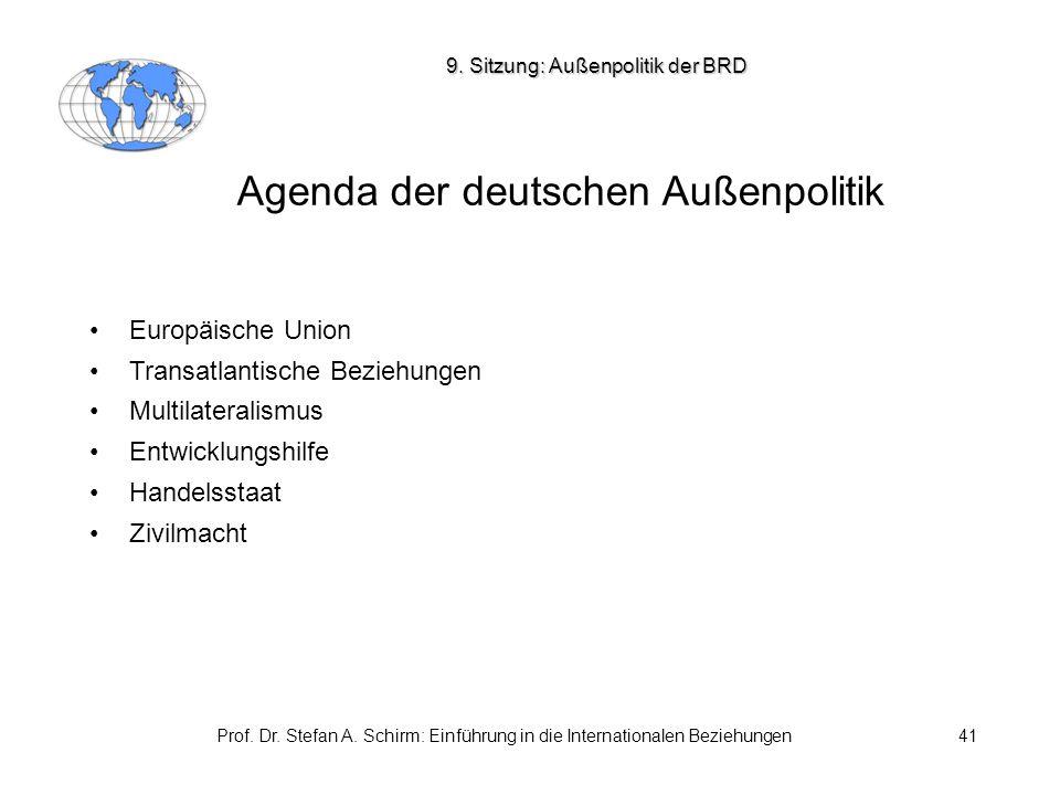 Agenda der deutschen Außenpolitik