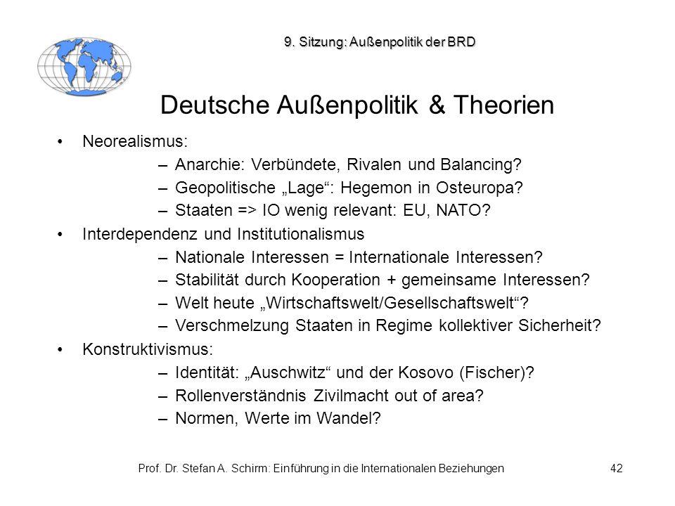 Deutsche Außenpolitik & Theorien