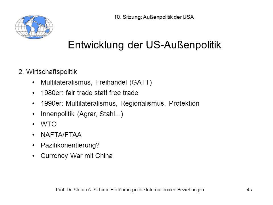 Entwicklung der US-Außenpolitik