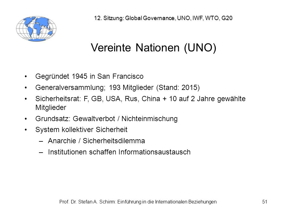 Vereinte Nationen (UNO)