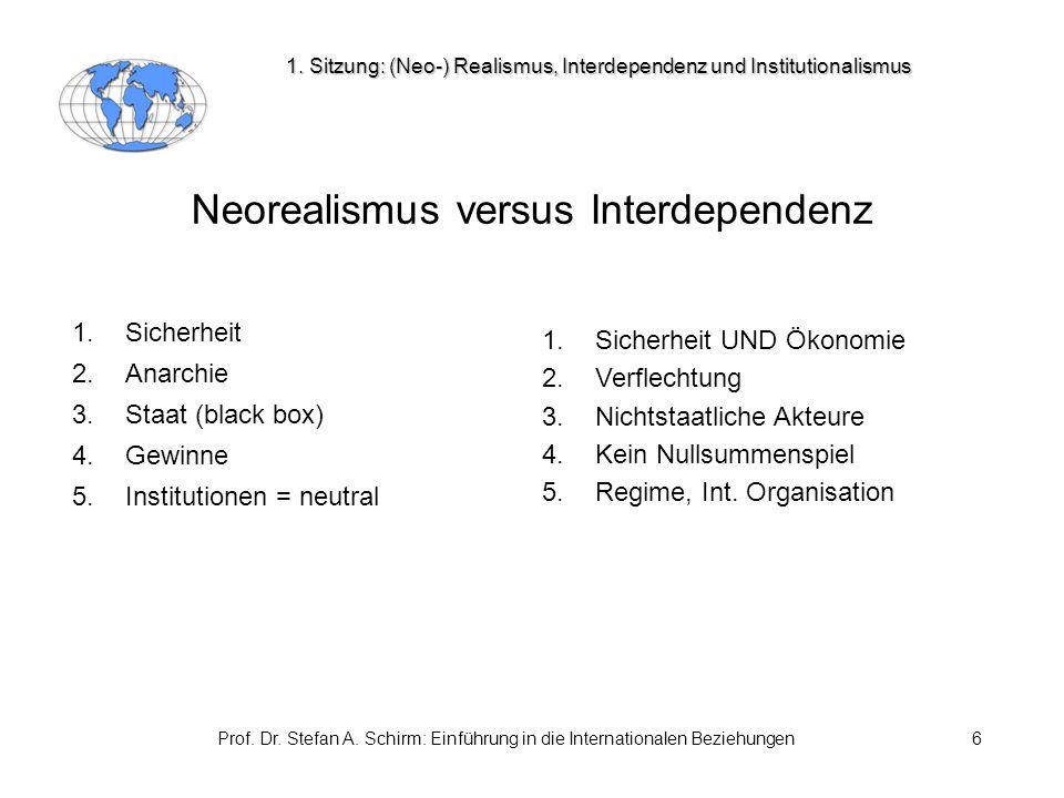 Neorealismus versus Interdependenz