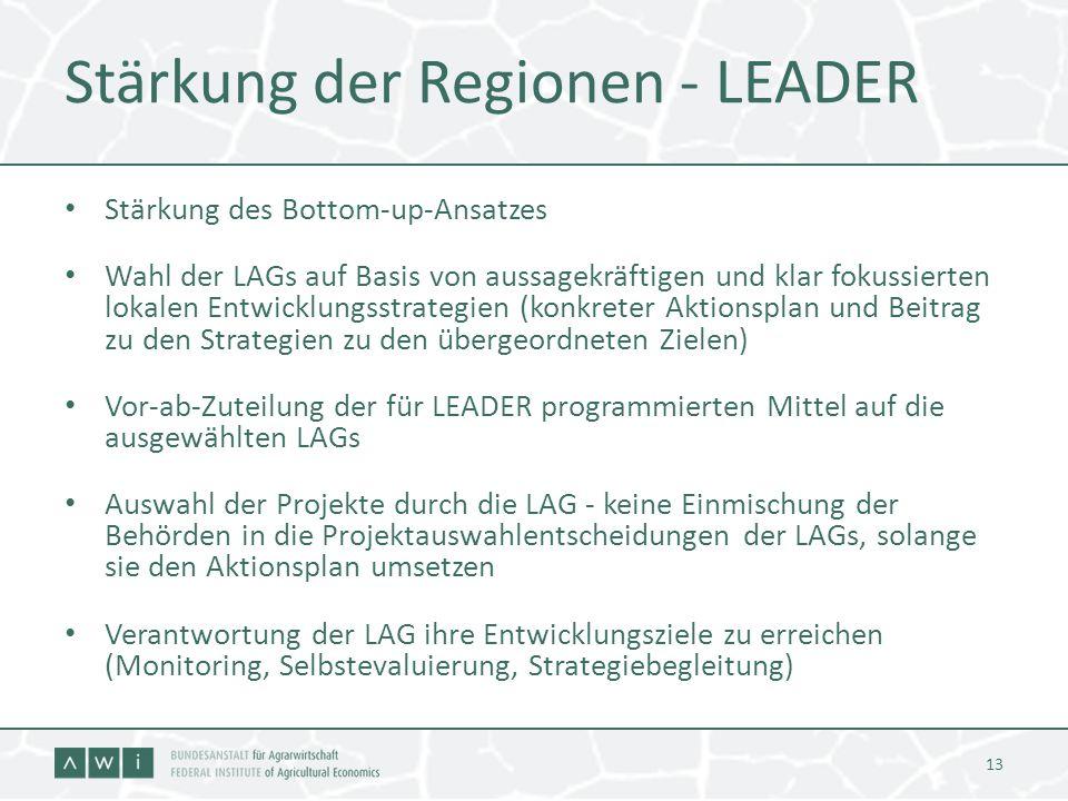 Stärkung der Regionen - LEADER