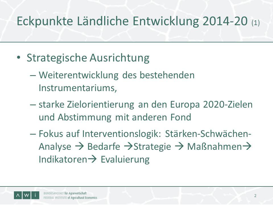 Eckpunkte Ländliche Entwicklung 2014-20 (1)