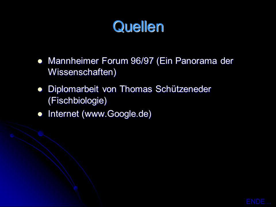 Quellen Mannheimer Forum 96/97 (Ein Panorama der Wissenschaften)