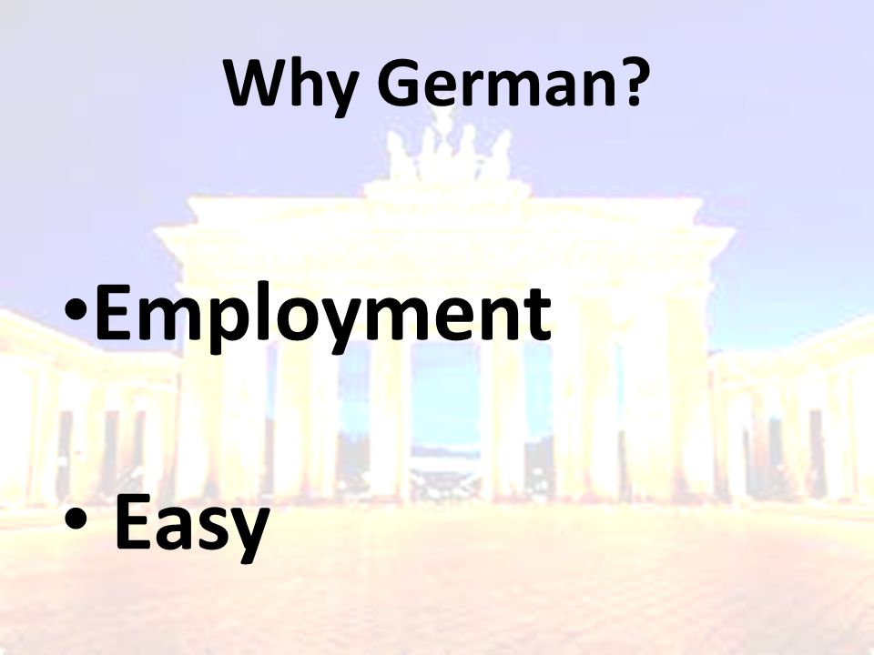 Why German Employment Easy