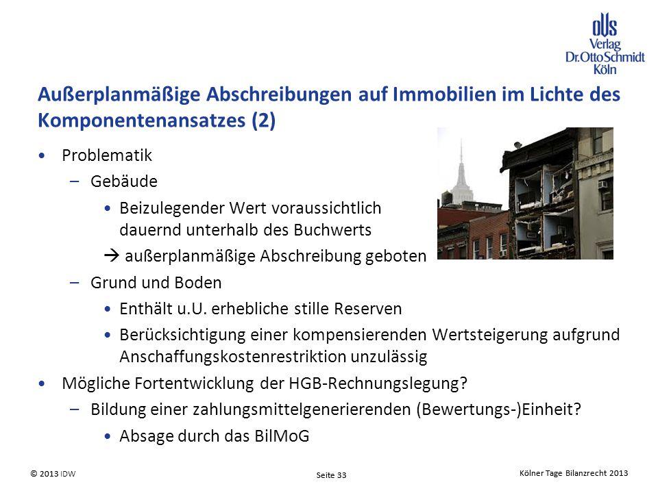 Außerplanmäßige Abschreibungen auf Immobilien im Lichte des Komponentenansatzes (2)
