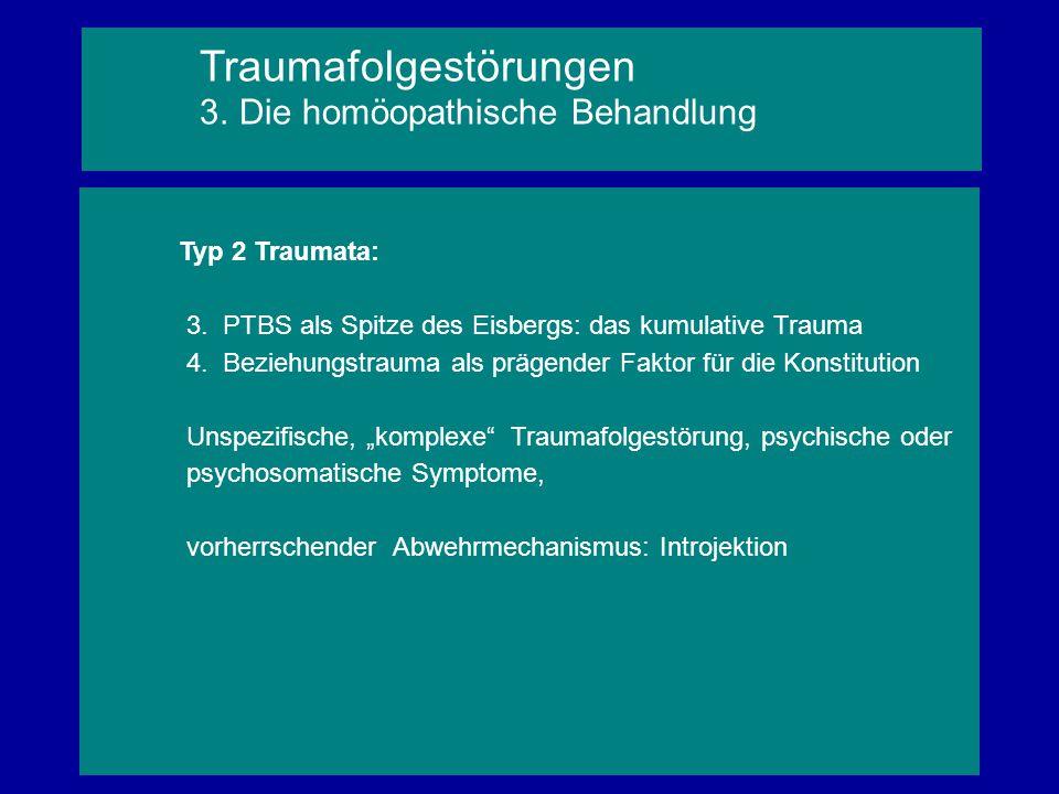Traumafolgestörungen 3. Die homöopathische Behandlung