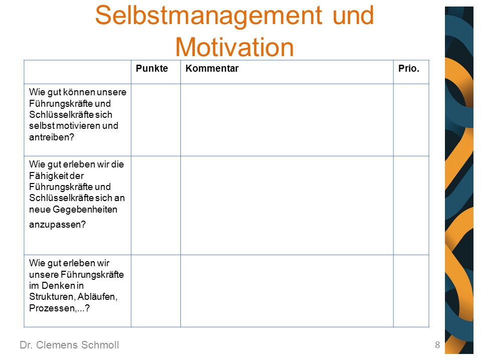 Selbstmanagement und Motivation