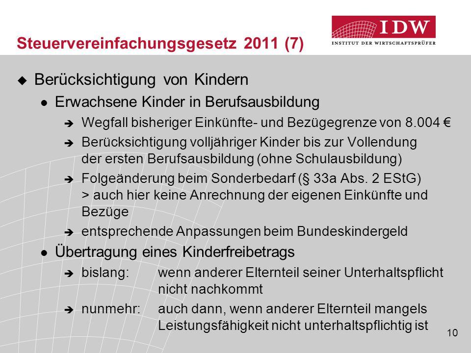 Steuervereinfachungsgesetz 2011 (7)