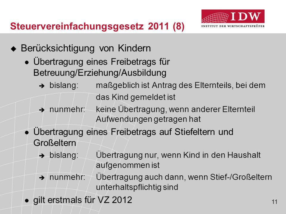 Steuervereinfachungsgesetz 2011 (8)