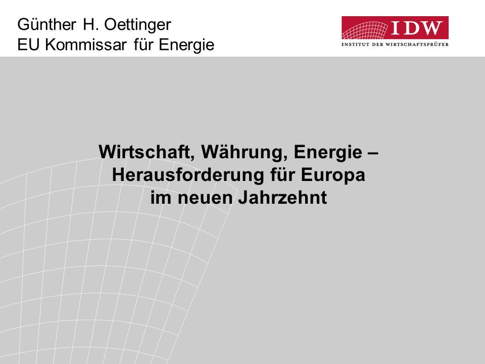 Günther H. Oettinger EU Kommissar für Energie
