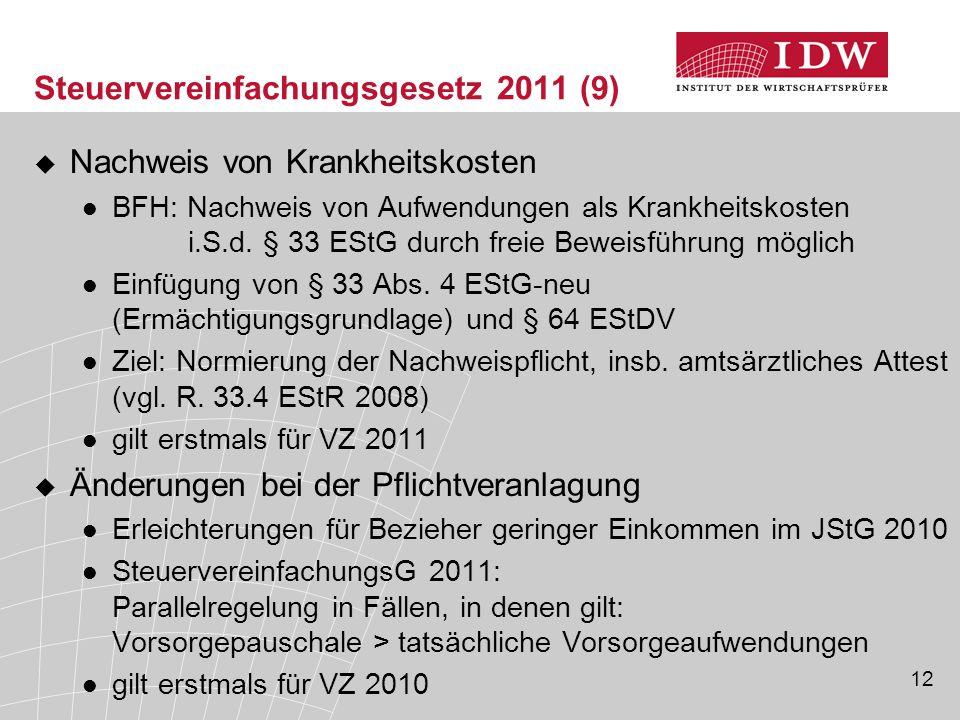 Steuervereinfachungsgesetz 2011 (9)