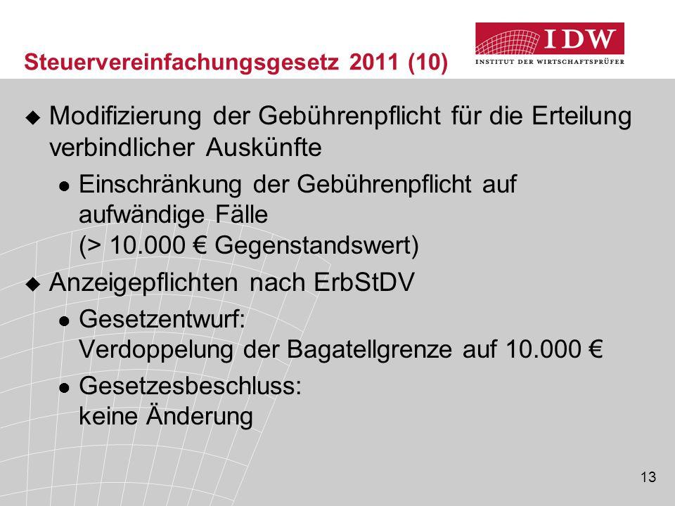 Steuervereinfachungsgesetz 2011 (10)