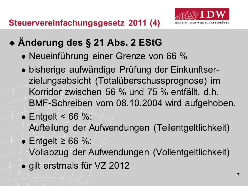 Steuervereinfachungsgesetz 2011 (4)
