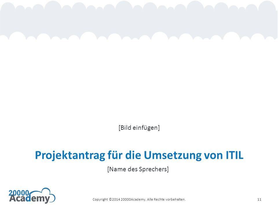 Projektantrag für die Umsetzung von ITIL