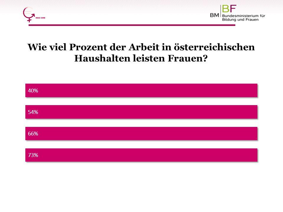 Wie viel Prozent der Arbeit in österreichischen Haushalten leisten Frauen