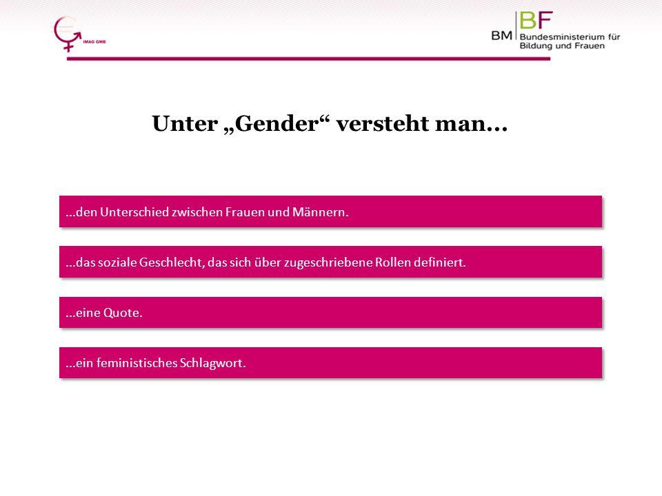 """Unter """"Gender versteht man..."""