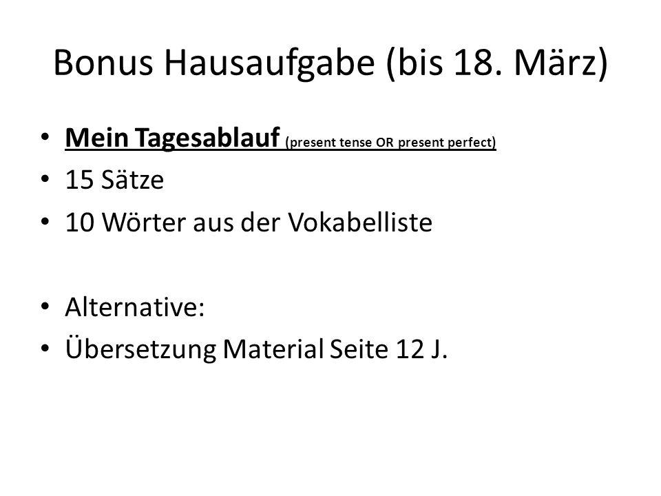 Bonus Hausaufgabe (bis 18. März)
